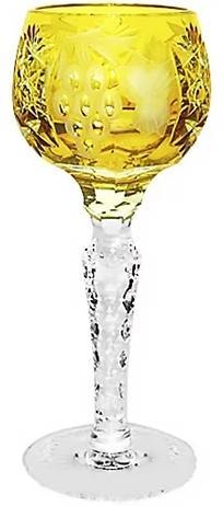 Купить Стопки, Ajka Crystal Grape Amber рюмка для ликера 60 мл, Желтый, Хрусталь