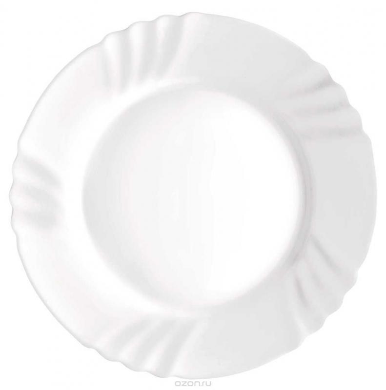 Купить Тарелки, Bormioli Rocco Ebro Dinner Plate Набор тарелок, 6 шт, Белый, Стекло