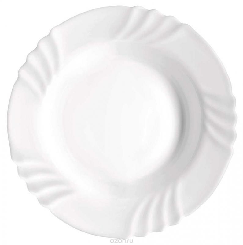 Купить Тарелки, Bormioli Rocco Ebro Soup Plate Набор тарелок, 6 шт, Белый, Стекло