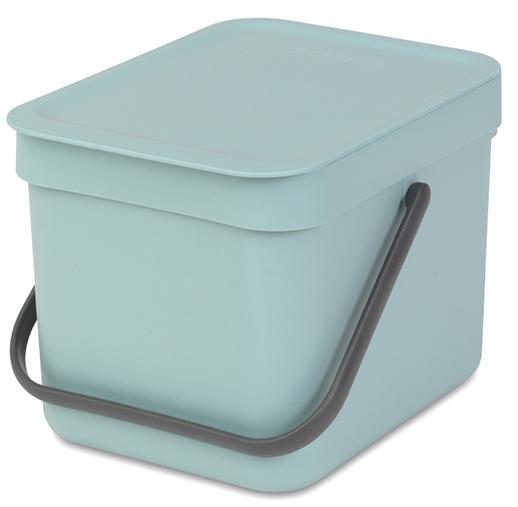 Купить Мусорные вёдра, Brabantia Sort & Go (6л) - мусорное ведро 109645, Голубой, Пластик