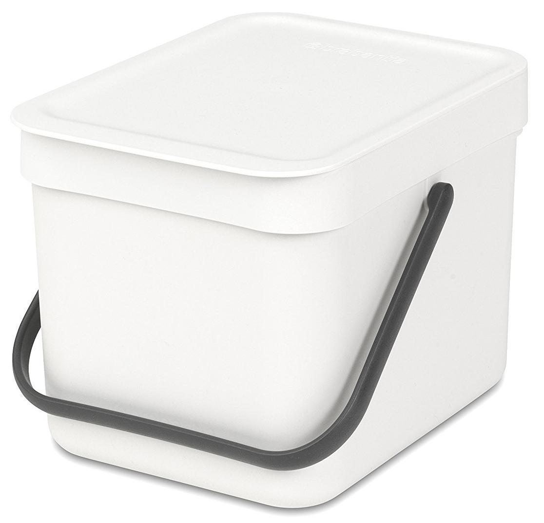 Купить Мусорные вёдра, Brabantia Sort & Go (6л) - мусорное ведро 109706, Белый, Пластик