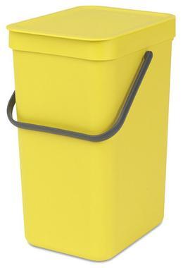 Купить Мусорные вёдра, Brabantia Sort & Go (16л) - мусорное ведро 109867, Желтый, Пластик