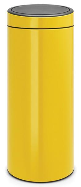 Купить Мусорные баки, Brabantia Touch Bin (30л) - мусорный бак 115240, Желтый, Металл