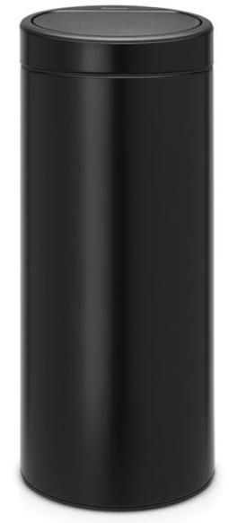 Купить Мусорные баки, Brabantia Touch Bin (30л) - мусорный бак 115301, Черный, Металл