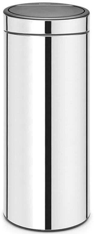 Купить Мусорные баки, Brabantia Touch Bin (30л) - мусорный бак 115325, Серебристый, Металл