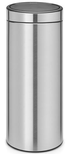 Купить Мусорные баки, Brabantia Touch Bin (30л) - мусорный бак 115349, Серебристый, Металл