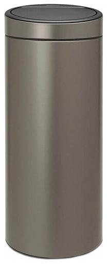 Купить Мусорные баки, Brabantia Touch Bin (30л) - мусорный бак 115363, Серый, Металл