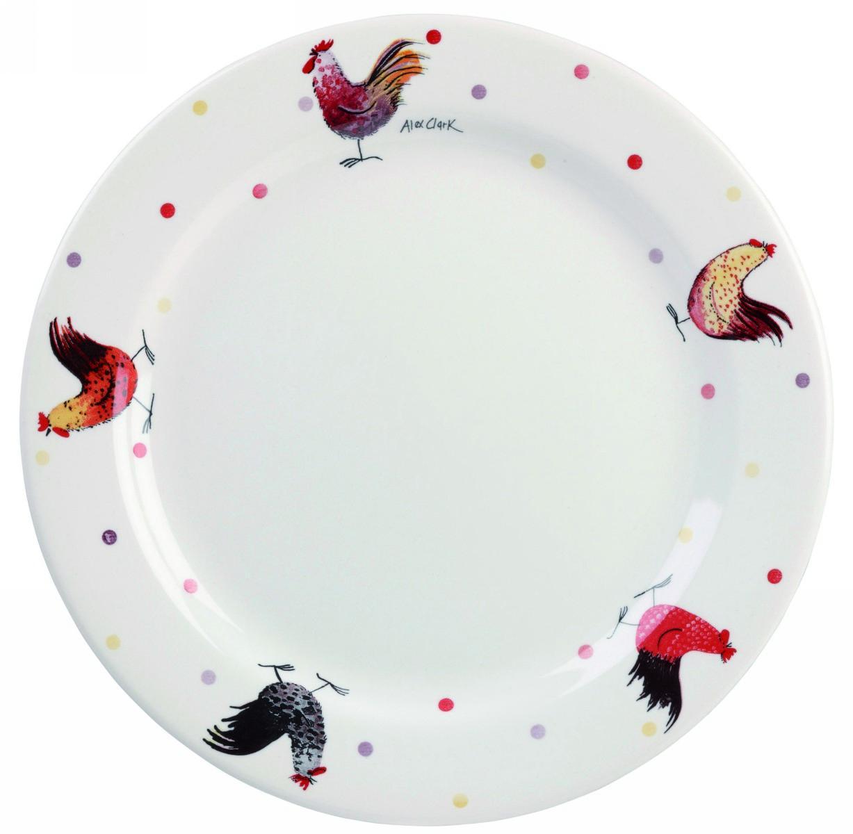 Купить Блюда, Churchill Алекс Кларк Петухи Блюдо 28, 5 см, Белый, Фарфор