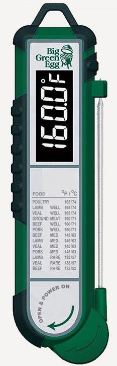 Big Green Egg Термометр цифровой, щуп, зелёный корпус