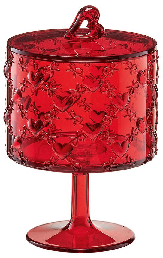 Купить Сахарницы, Конфетницы, Guzzini Ваза для десертов Love малая красная, Красный, Пластик