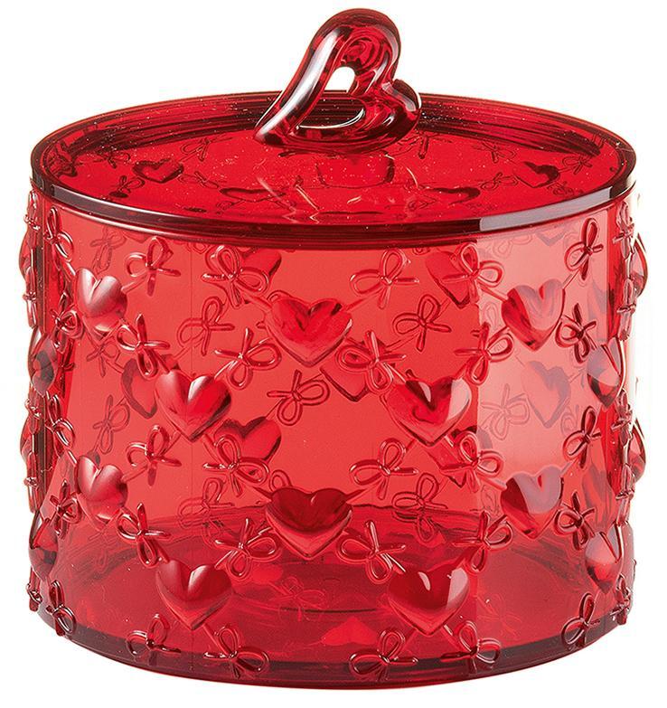 Купить Сахарницы, Конфетницы, Guzzini Контейнер с крышкой Love малый красный, Красный, Пластик