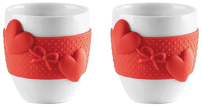 Купить Чашки, Guzzini Набор из 2 чашек для кофе Love красный, Красный, Фарфор
