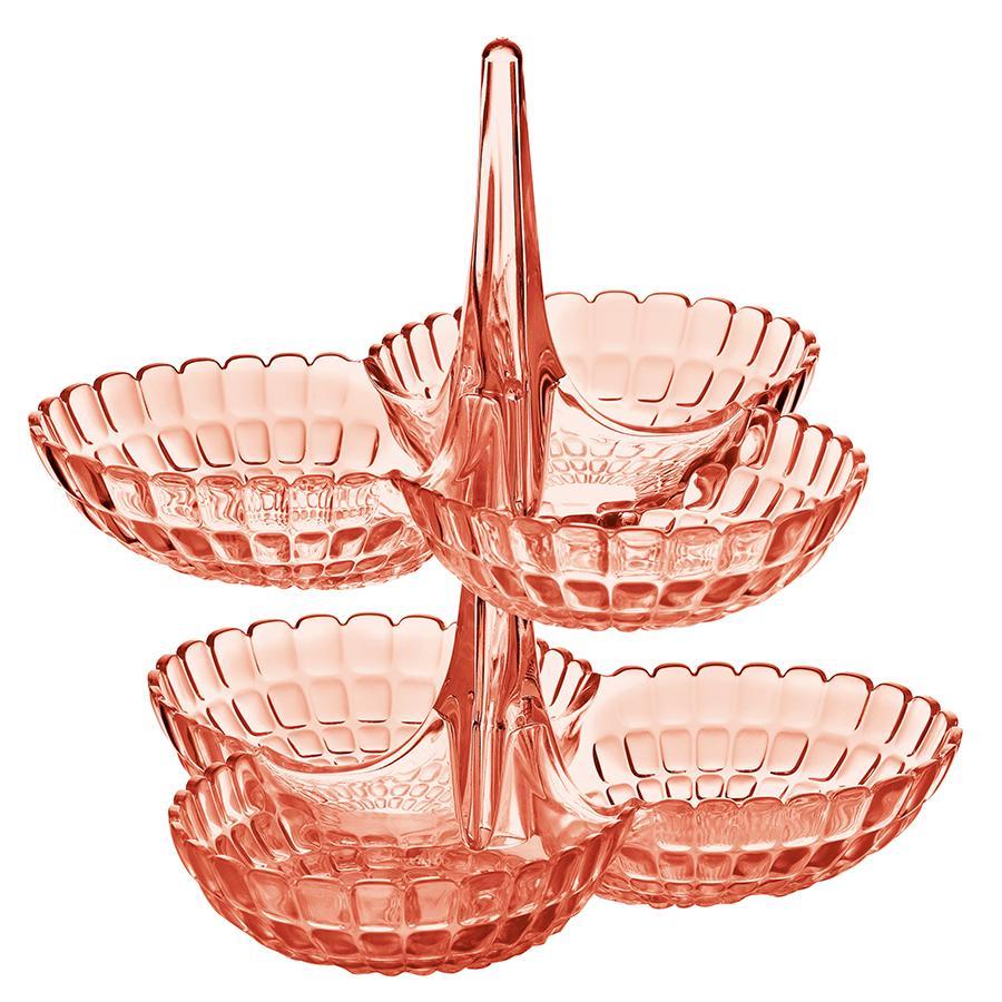 Купить Блюда, Guzzini Набор из 2 менажниц Tiffany коралловый, Коралловый, Пластик
