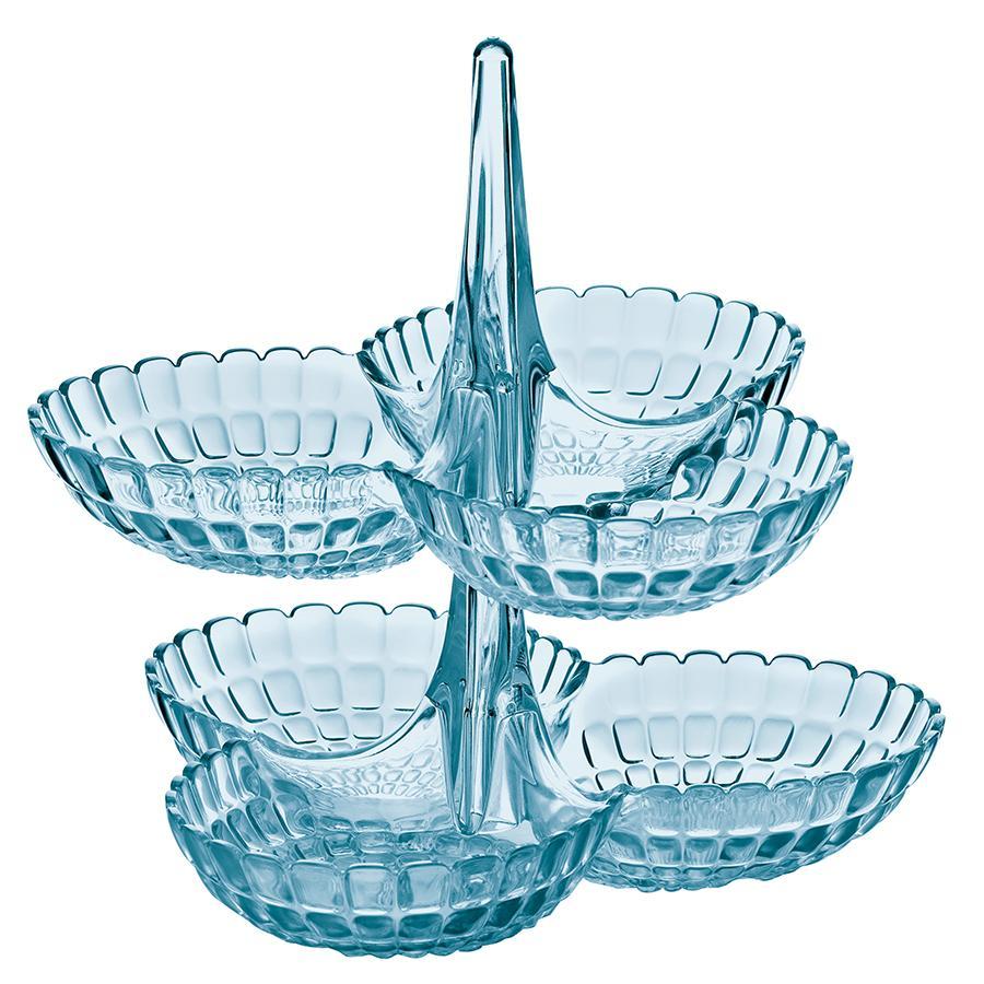 Купить Блюда, Guzzini Набор из 2 менажниц Tiffany голубой, Голубой, Пластик