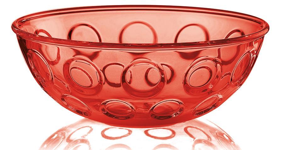 Купить Салатники, Guzzini Салатница Forme Casa 25 см красная, Красный, Пластик