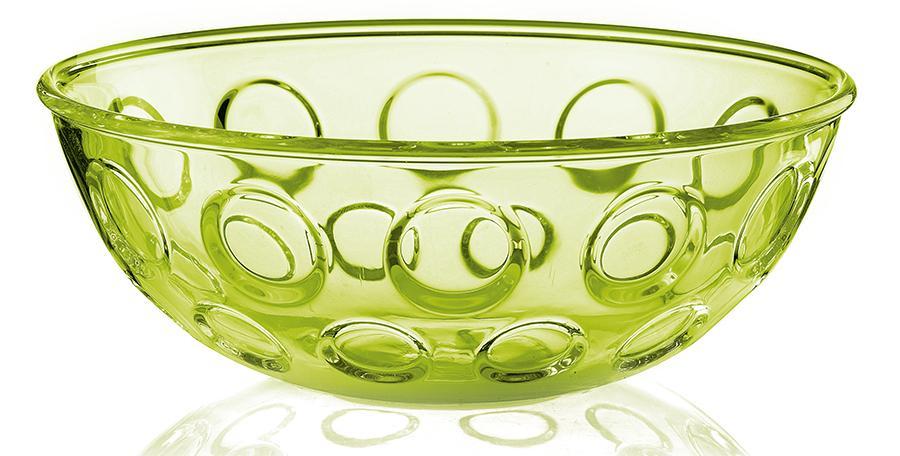 Купить Салатники, Guzzini Салатница Forme Casa 25 см зелёная, Зеленый, Пластик