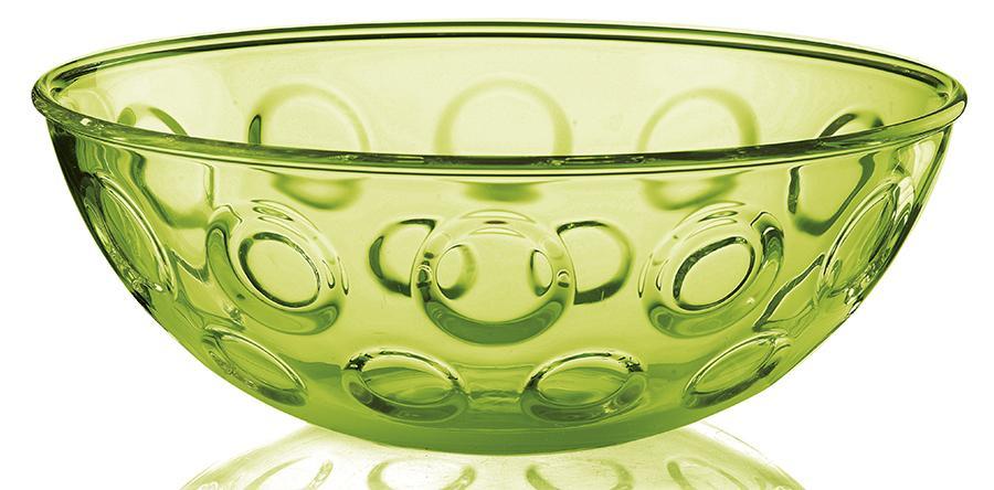 Купить Салатники, Guzzini Салатница Forme Casa 30 см зелёная, Зеленый, Пластик