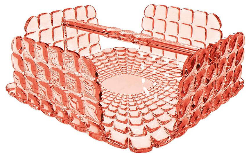 Купить Салфетницы, Guzzini Салфетница квадратная Tiffany коралловая, Коралловый, Пластик