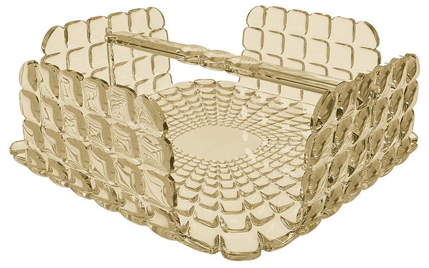 Купить Салфетницы, Guzzini Салфетница квадратная Tiffany песочная, Песочный, Пластик