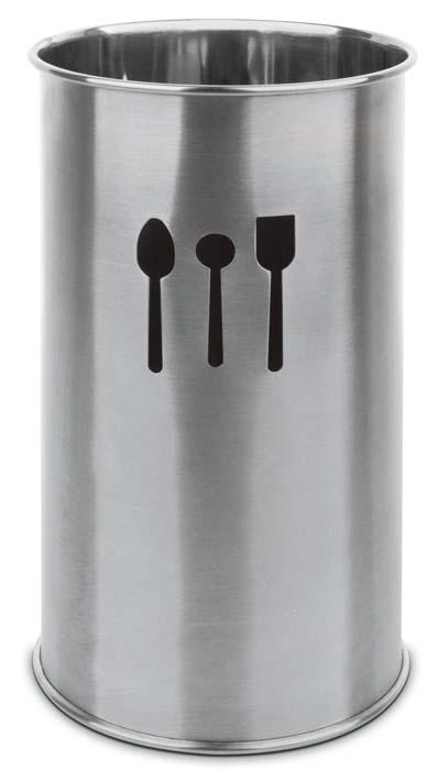 Купить Органайзеры для кухонных принадлежностей, IBILI Prisma Подставка стакан для столовых приборов 10 см, Серебристый, Нержавеющая сталь