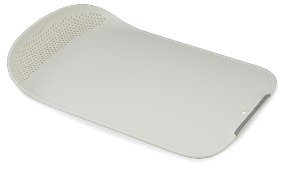 Купить Разделочные доски, Joseph Joseph Доска разделочная Chop & Drain белая, Белый, Пластик
