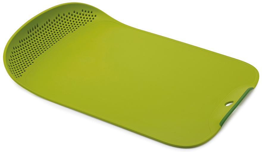 Купить Разделочные доски, Joseph Joseph Доска разделочная Chop & Drain зеленая, Зеленый, Пластик
