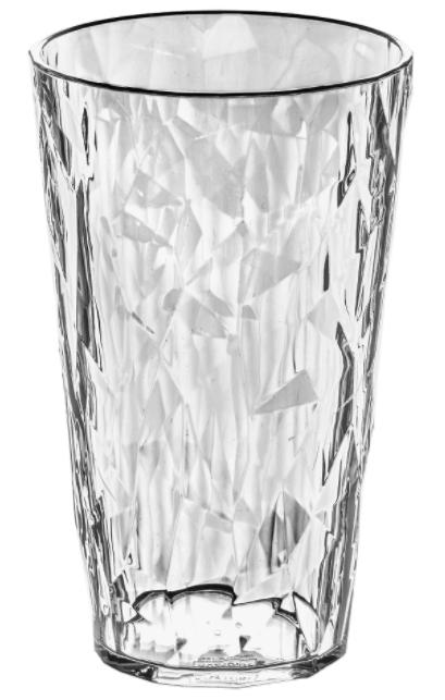 Купить Стаканы для воды, Koziol CLUB L Бокал прозрачный 400 мл, Белый, Пластик
