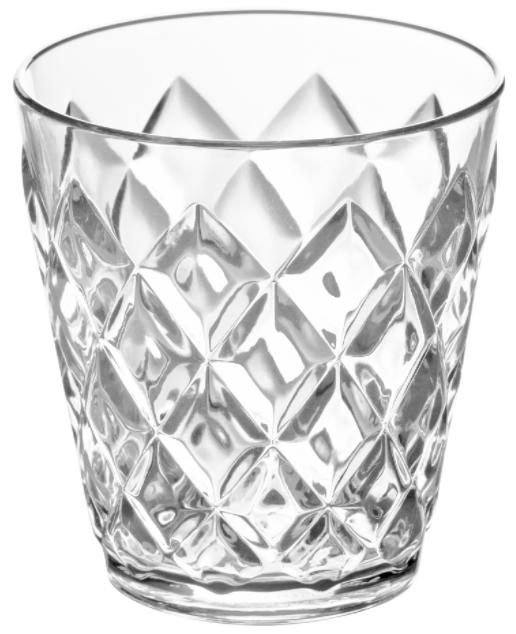 Купить Стаканы для воды, Koziol CRYSTAL S Бокал прозрачный 200 мл, Белый, Пластик