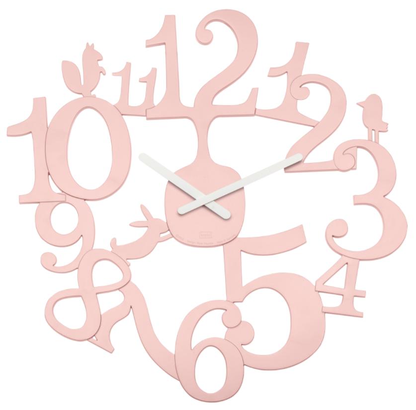 Купить Koziol [pi:p] Часы настенные, розовые, Розовый, Пластик