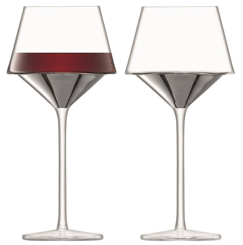 LSA Набор из 2 бокалов для вина Space 445 мл платина LSA International