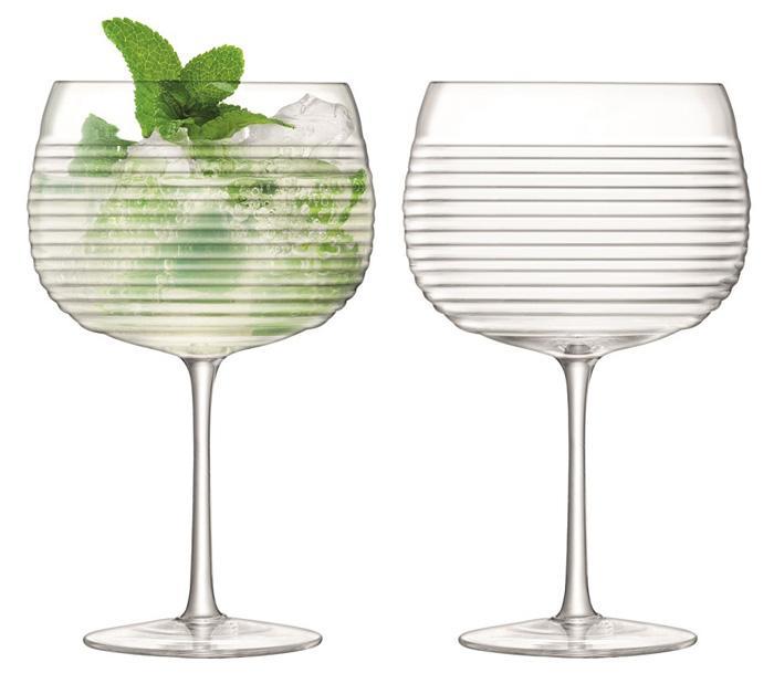 Купить Наборы бокалов для коктейлей, LSA Groove Набор из 2 круглых бокалов 650 мл, LSA International, Прозрачный, Стекло