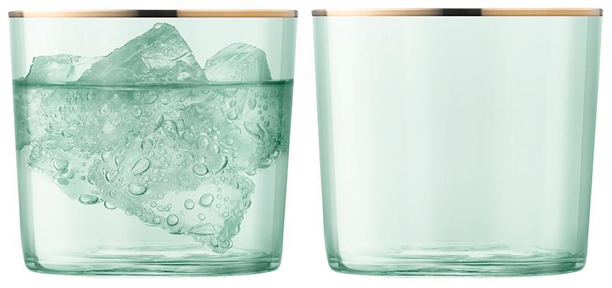 Купить Стаканы для воды, LSA Набор из 2 стаканов Sorbet 310 мл зелёный, LSA International, Зеленый, Выдувное стекло