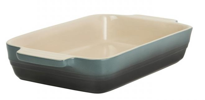 Купить Посуда для запекания, LE CREUSET Прямоугольное блюдо 26см, каменная керамика, океан, Зеленый, Керамика