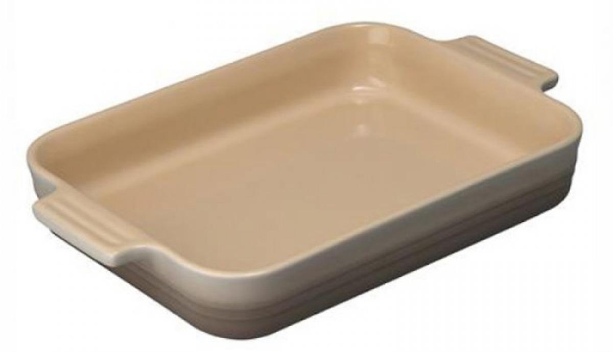 Купить Посуда для запекания, LE CREUSET Прямоугольное блюдо 26см, каменная керамика, мускат, Коричневый, Керамика