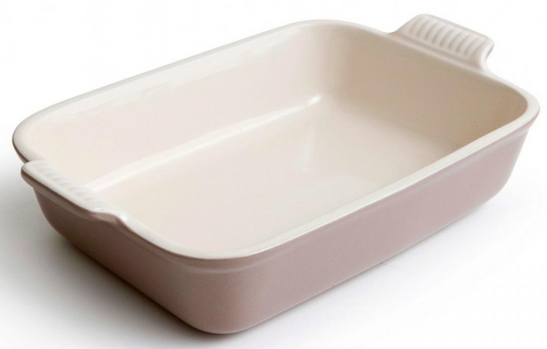 Купить Посуда для запекания, LE CREUSET Прямоугольное блюдо 37/32 см, каменная керамика, мексиканская агава, Бежевый, Керамика