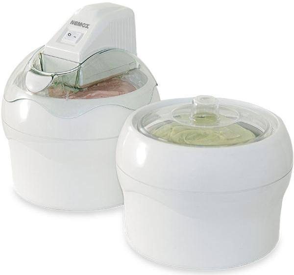 Купить Мороженицы, Nemox Gelato Duo Lux Мороженица 2 чаши X 1.1L, Белый, Пластик