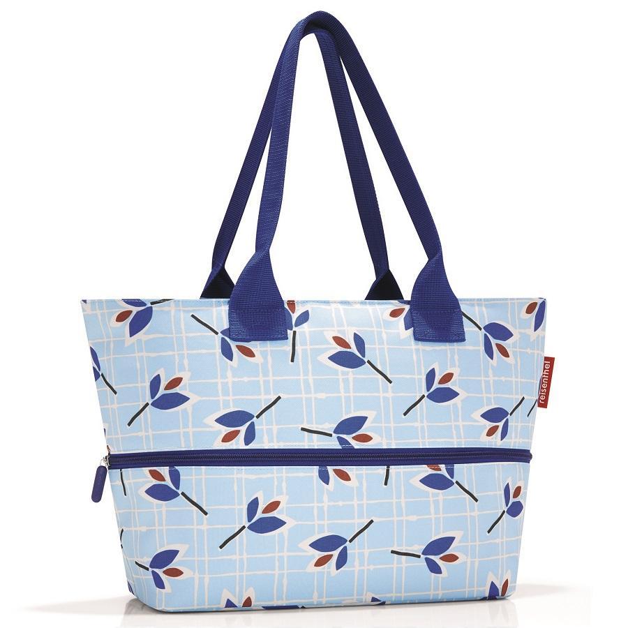 Купить Сумки, Reisenthel, Сумка Shopper E1 leaves blue, Голубой, Полиэстер