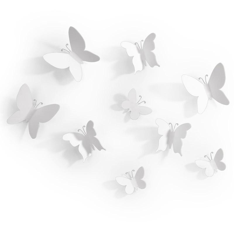 Купить Umbra Декор для стен Mariposa 9 элементов белый, Полипропилен