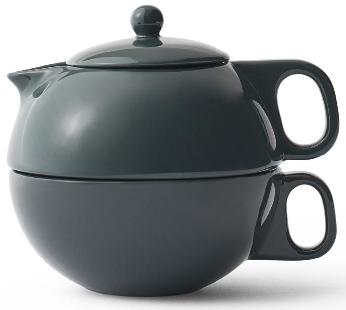 Купить Заварочные чайники, VIVA Scandinavia Jaimi™ Чайный набор на одну персону 0, 3 л, 2 предмета, фарфор, темно-зеленый, Зеленый, Фарфор