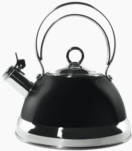 Купить Наплитные чайники, Wesco чайник со свистком 2, 5 л, черный, Черный, Нержавеющая сталь