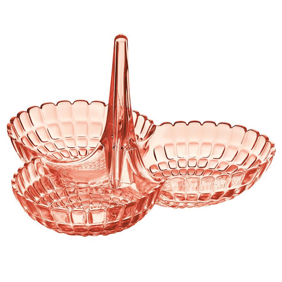 Купить Блюда, Guzzini Менажница Tiffany коралловая, Коралловый, Пластик