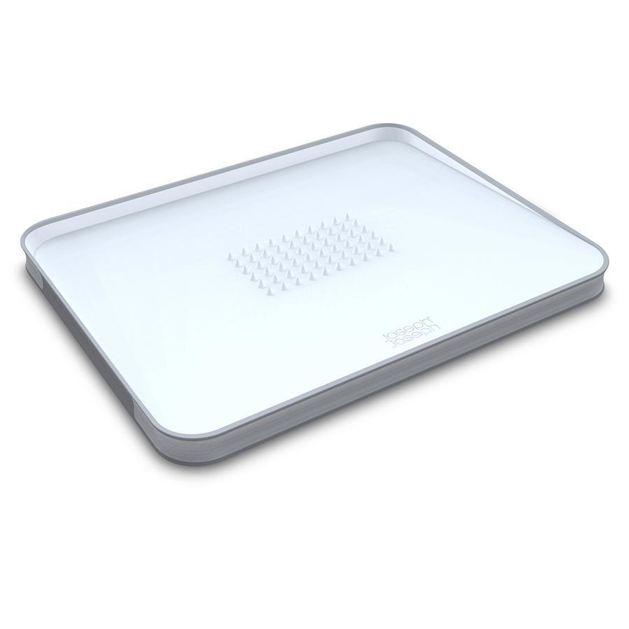 Купить Разделочные доски, Joseph Joseph Доска разделочная для мяса Cut&Carve™ Plus двухсторонняя большая белая, Белый, Пластик